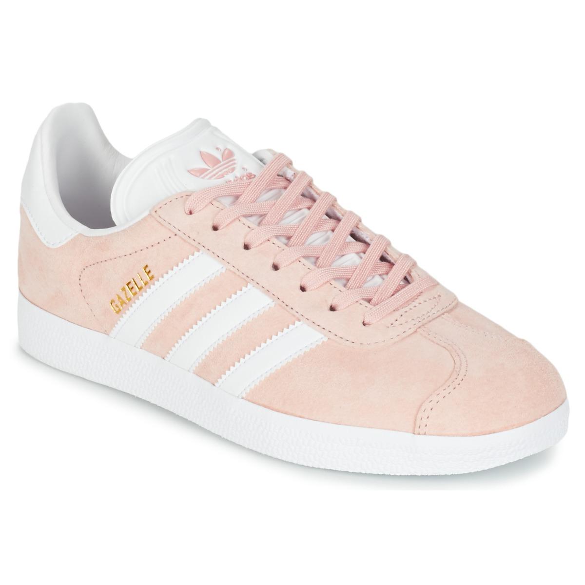 8b3287f8ef adidas Originals GAZELLE Rose - Chaussure pas cher avec Shoes.fr ! - Chaussures  Baskets basses Femme 88,99 €
