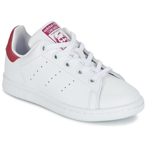 best service 03250 a5003 Chaussures Fille Baskets basses adidas Originals STAN SMITH EL C Blanc    rose