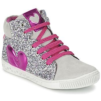 Chaussures Fille Baskets montantes Agatha Ruiz de la Prada BUSOULI Argent