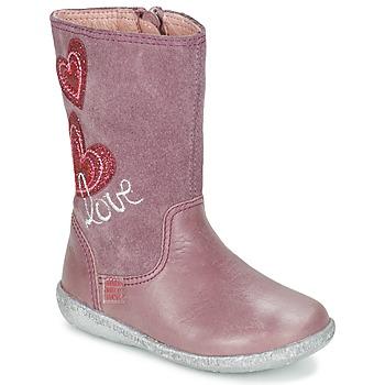 Chaussures Fille Bottes ville Agatha Ruiz de la Prada BIGI Rose