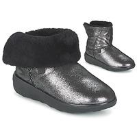 Chaussures Femme Boots FitFlop SUPERCUSH MUKLOAFF SHIMMER Argenté