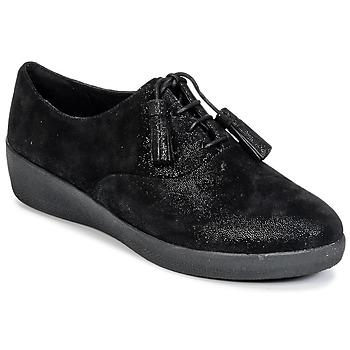 Chaussures Femme Derbies FitFlop CLASSIC TASSEL SUPEROXFORD Noir