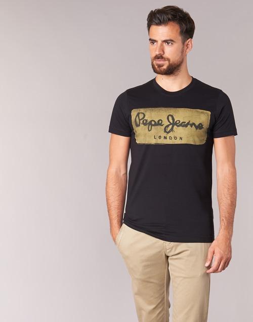 Vêtements Homme T-shirts manches courtes Pepe jeans CHARING Noir