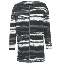 Vêtements Femme Manteaux Bench EVENING Noir / Blanc / Gris
