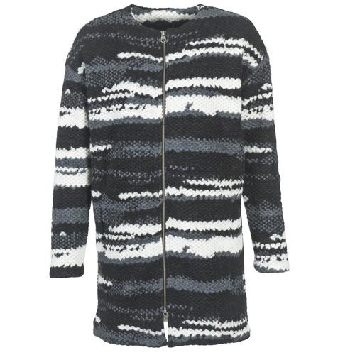 Vêtements Femme Manteaux Bench EVENING Noir / Blanc / Gris
