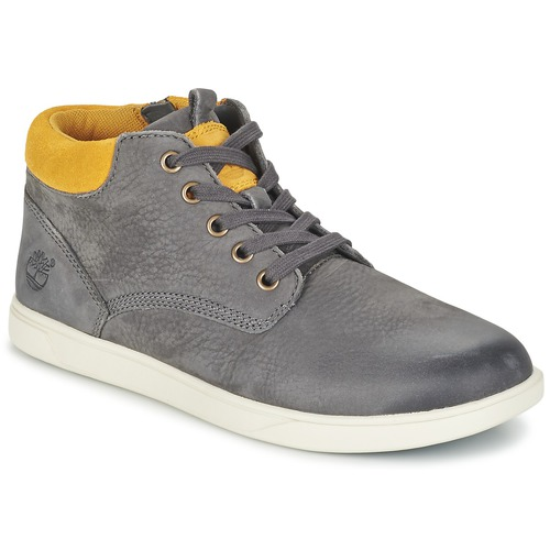 Chaussures Enfant Boots Timberland GROVETON LEATHER CHUKKA Gris