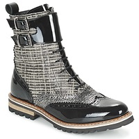 Chaussures Femme Boots Regard RIFADO Gris / Noir verni