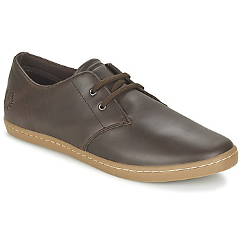 Fred Perry BYRON LOW LEATHER Marron