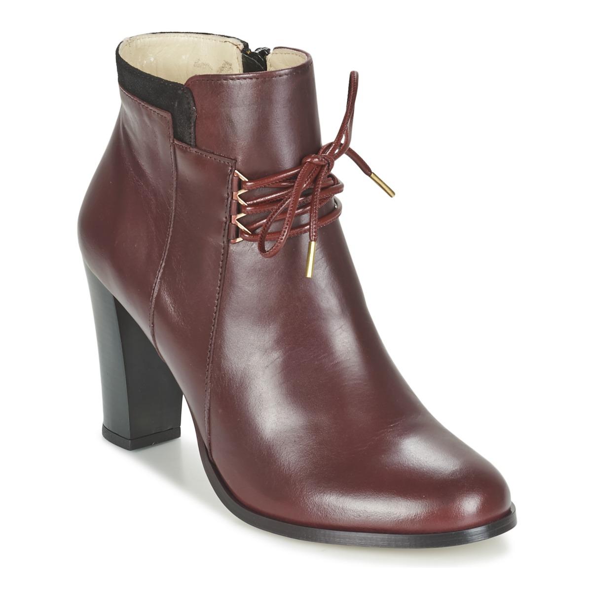 m moustache emma bordeaux noir chaussure pas cher avec chaussures low boots. Black Bedroom Furniture Sets. Home Design Ideas