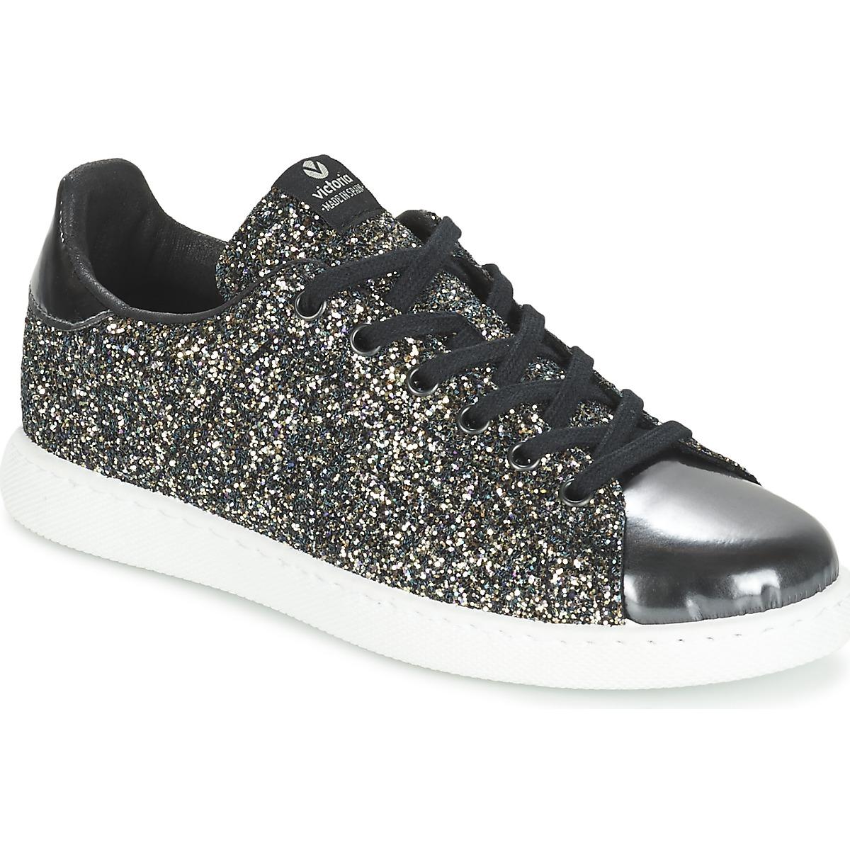 Victoria Femme victoria sneakers noires Noir - Chaussures Baskets basses Femme
