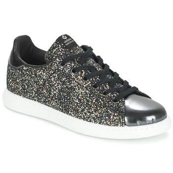 Chaussures Air max tnFemme Baskets basses Victoria DEPORTIVO BASKET GLITTER Noir