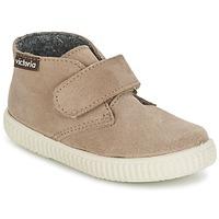 Chaussures Air max tnEnfant Baskets montantes Victoria SAFARI SERRAJE VELCRO Taupe