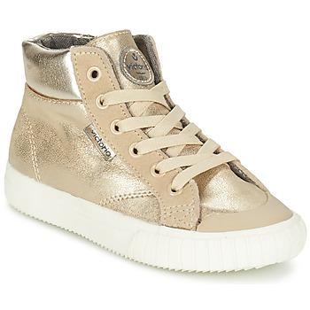 Chaussures Fille Baskets montantes Victoria BOTA METALIZADA PU Doré