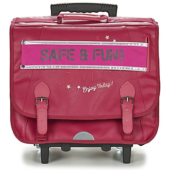 Sacs Fille Sacs / Cartables à roulettes Ikks HAPPY TROLLEY CARTABLE 41CM Rose