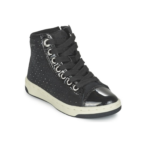 Chaussures Fille Baskets montantes Geox CREAMY Noir