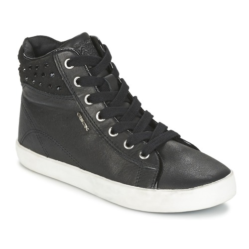 Chaussures Fille Baskets montantes Geox KIWI GIRL Noir