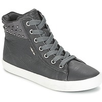 Chaussures Fille Baskets montantes Geox KIWI GIRL Gris