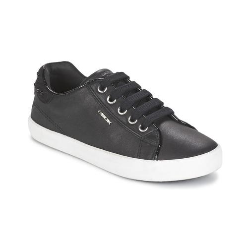 Chaussures Fille Baskets basses Geox KIWI GIRL Noir