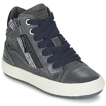 Chaussures Fille Baskets montantes Geox WITTY Gris