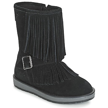 Chaussures Fille Bottes ville Geox NOHA Noir