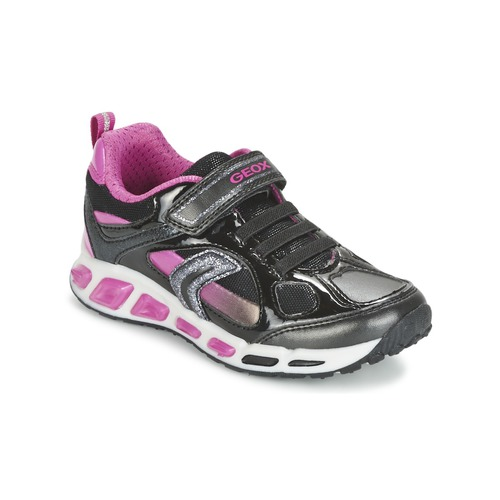 Chaussures Fille Baskets basses Geox SHUTTLE GIRL Noir / Rose