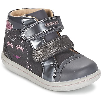 Chaussures Fille Baskets montantes Geox B FLICK GIRL Gris