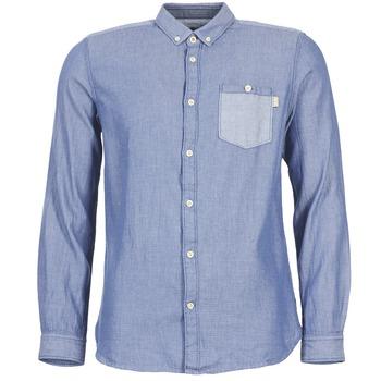 Vêtements Homme Chemises manches longues Tom Tailor INIDULLE Bleu
