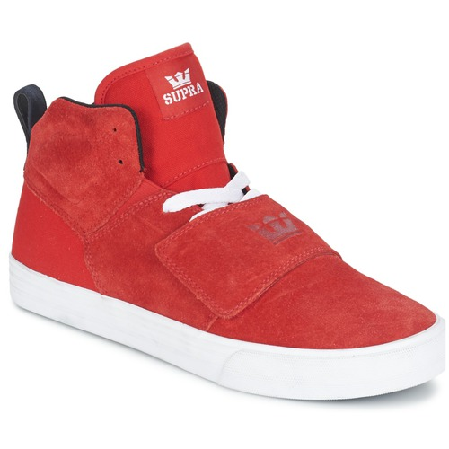 Chaussures Homme Baskets montantes Supra ROCK Rouge