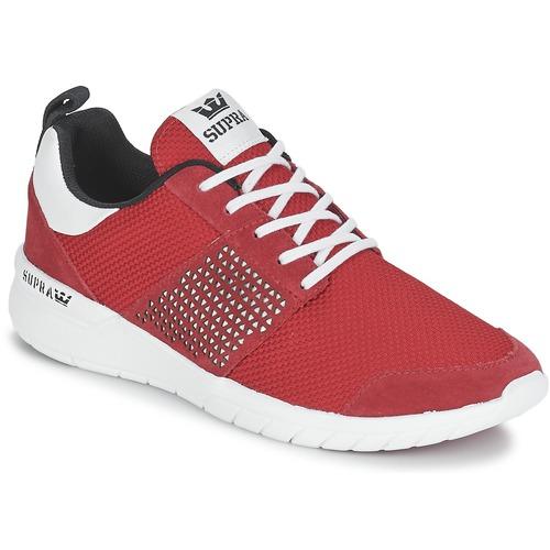 Chaussures Baskets basses Supra SCISSOR Rouge