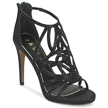 Chaussures Femme Sandales et Nu-pieds Ravel BLANCO Noir / Satin