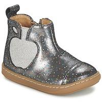 Chaussures Fille Boots Shoo Pom BOUBA APPLE Argenté