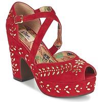 Chaussures Femme Sandales et Nu-pieds Miss L'Fire SELINA Rouge