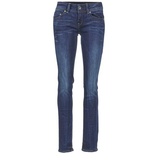 Vêtements Femme Jeans droit G-Star Raw MIDGE SADDLE MID STRAIGHT Denim