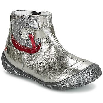 Chaussures Fille Boots GBB NYMPHE Gris / Imprimé