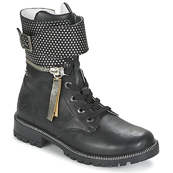 Chaussures Fille Boots Ikks PEGGY Noir