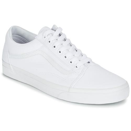 Chaussures Baskets basses Vans OLD SKOOL Blanc