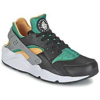 Nike AIR HUARACHE RUN Noir / Jaune / Vert