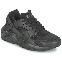 Chaussures Air max tnEnfant Baskets basses Nike HUARACHE RUN JUNIOR Noir