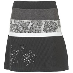 Vêtements Femme Jupes Desigual REVUNE Noir / Gris