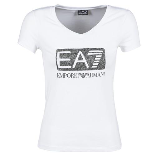 Vêtements Femme T-shirts manches courtes Emporio Armani EA7 FOUNAROLA Blanc