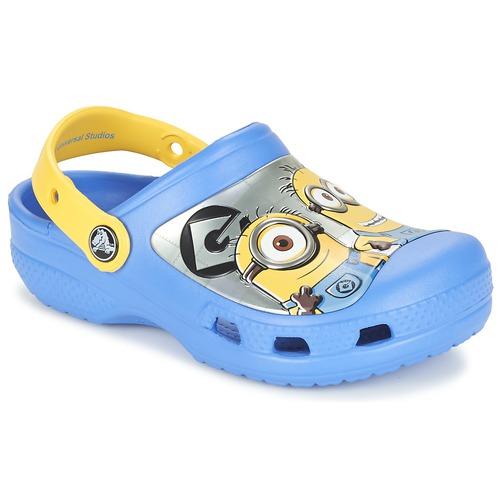 Chaussures Enfant Sabots Crocs CC Minions Clog Bleu / Jaune