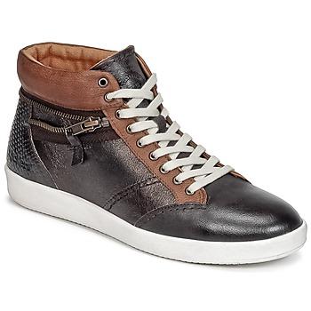 Chaussures Femme Baskets montantes Kickers HAPPYZIP Marron Foncé Metal