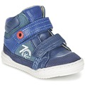 Chaussures Garçon Baskets montantes Kickers JINJINU Bleu