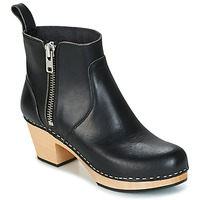 Chaussures Femme Bottines Swedish hasbeens ZIP IT EMY Noir