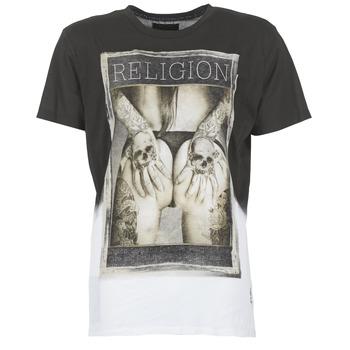 Vêtements Homme T-shirts manches courtes Religion GRABBING Blanc / Noir