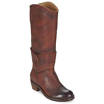 Chaussures Femme Bottes ville Dkode INDIANA Marron foncé