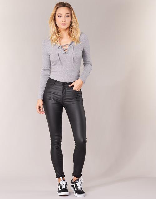 Vêtements Femme Pantalons 5 poches Vila VICOMMIT Noir