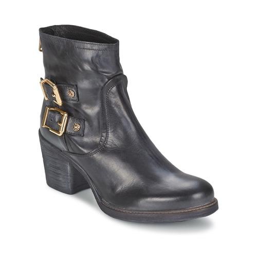 Chaussures Femme Bottines Meline LODU Noir