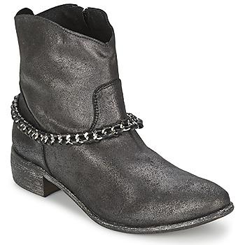 Chaussures Femme Boots Meline VUTIO Noir métallisé