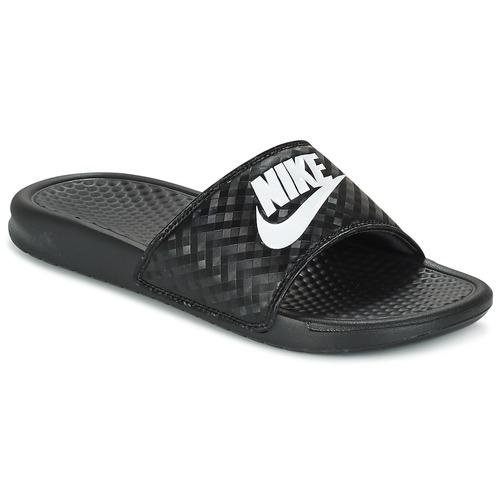 Chaussures Femme Claquettes Nike BENASSI JUST DO IT W Noir / Blanc
